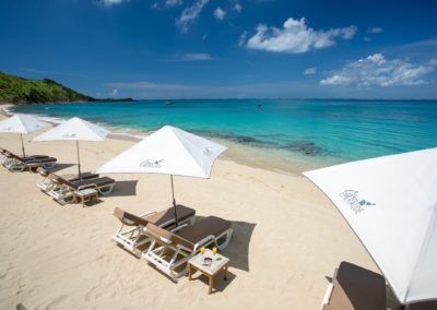 BEACH BLEU EMERAUDE GRAND CASE UMBRELLAS